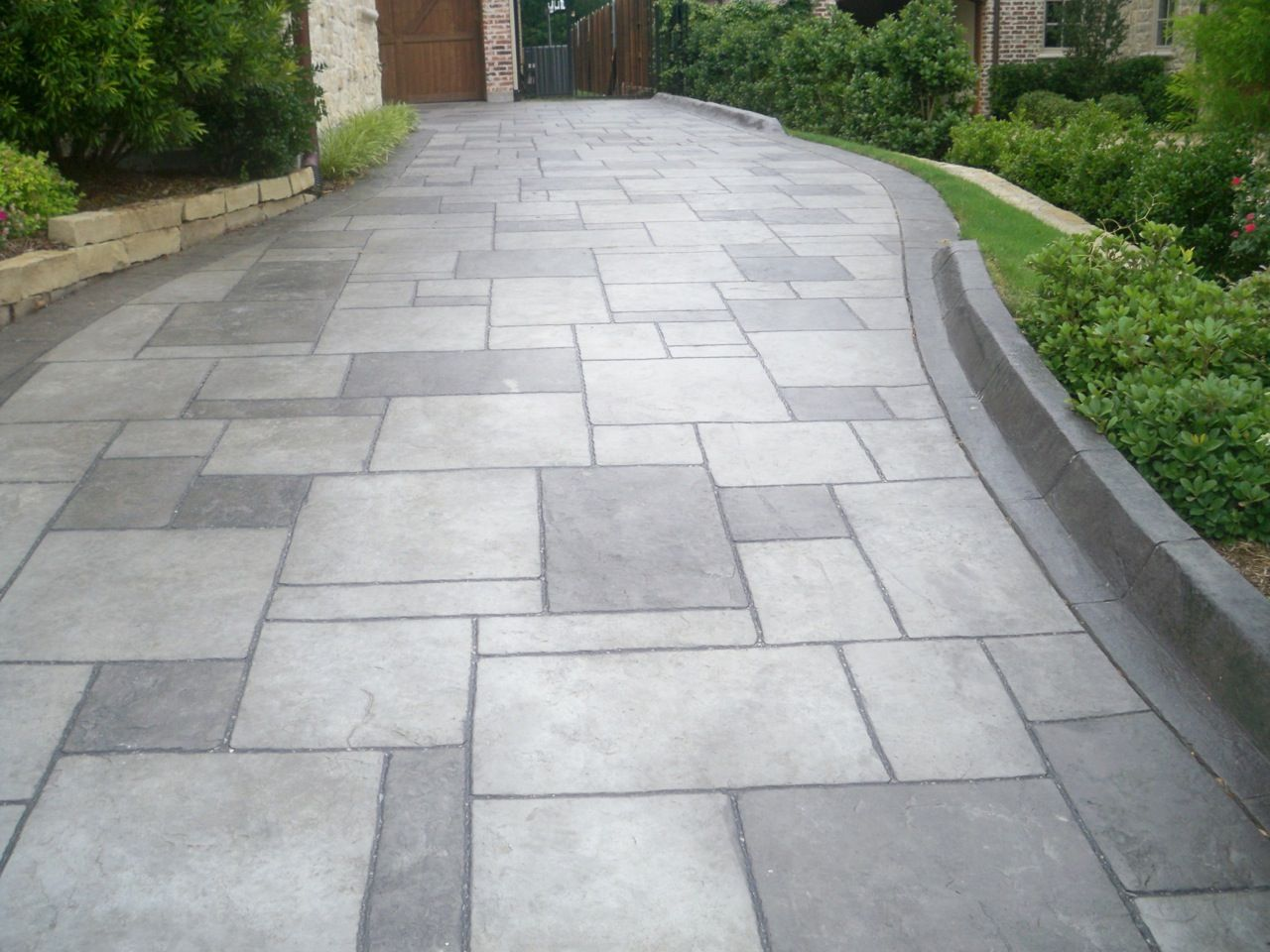 Concrete Brushed Stamped Stained Driveway Http Www