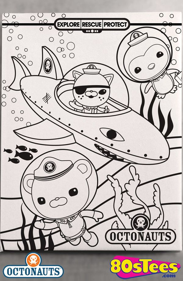 Gup B Black And White Octonauts Canvas Wall Art Octonauts Canvas