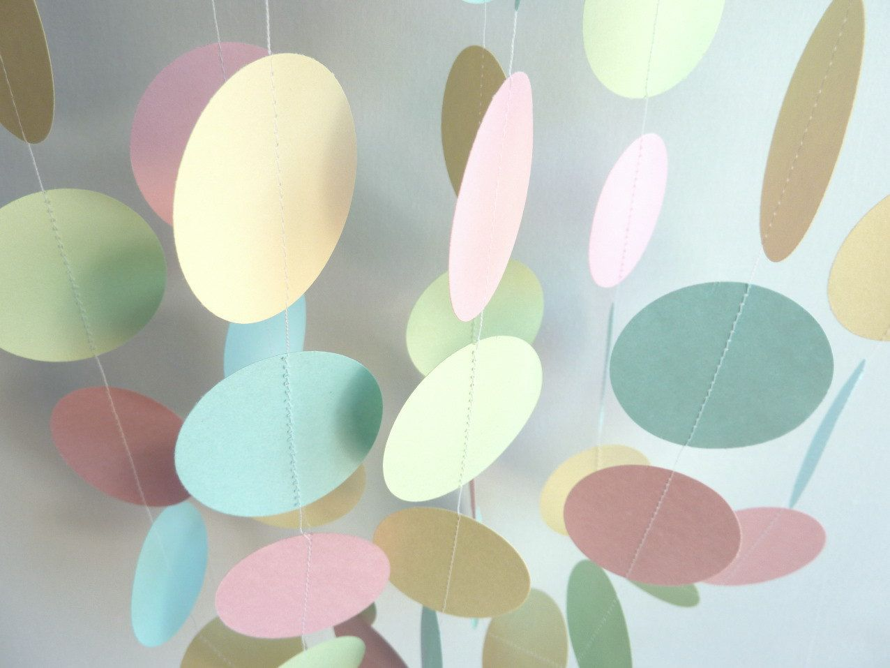 Best ideas about pastel nursery on pinterest nursery colours pastel - Baby Garland Pastel Pink Blue Green And Yellow Boy Or Girl