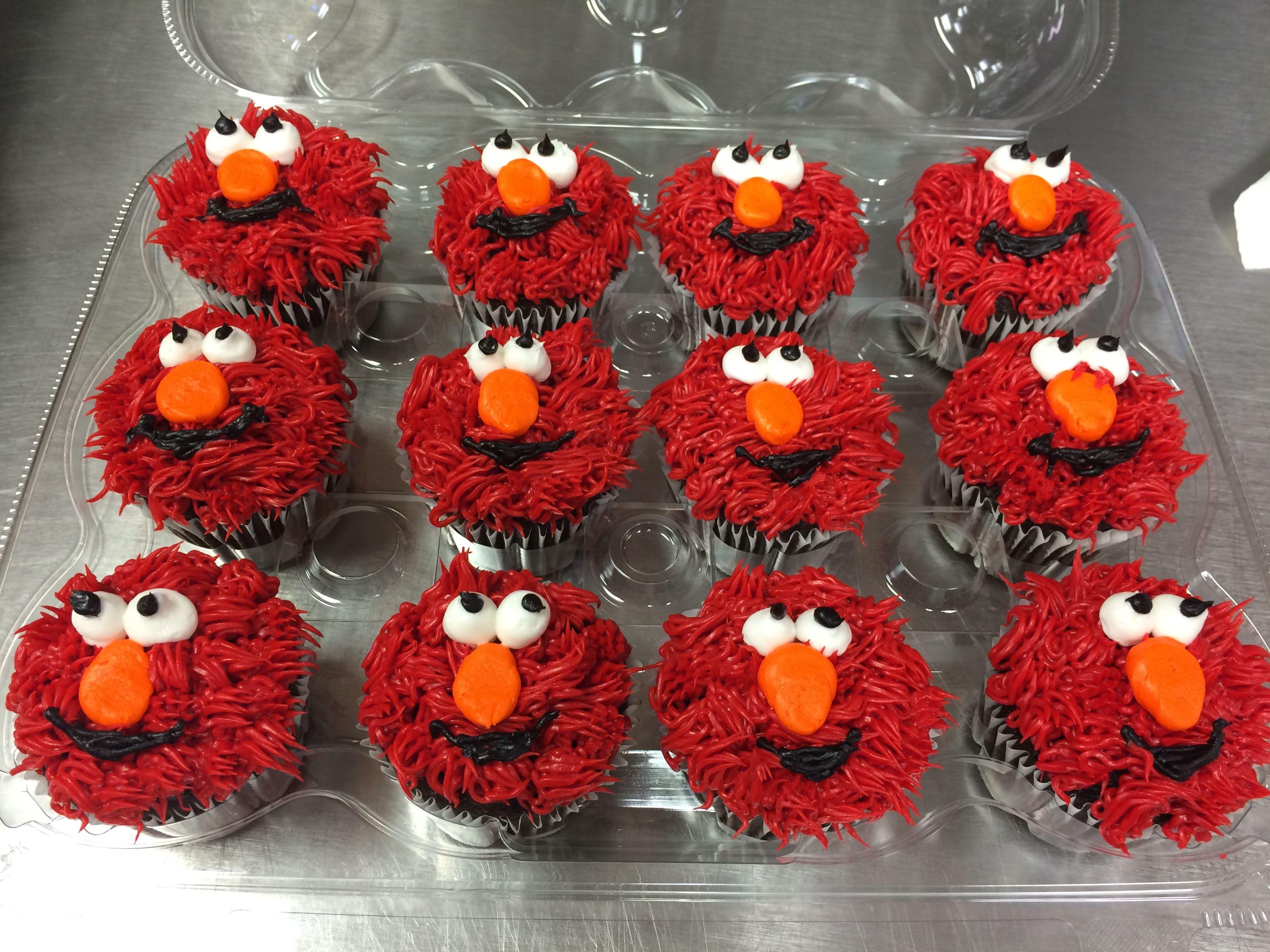 Elmo cupcakes elmo cupcakes desserts cupcakes