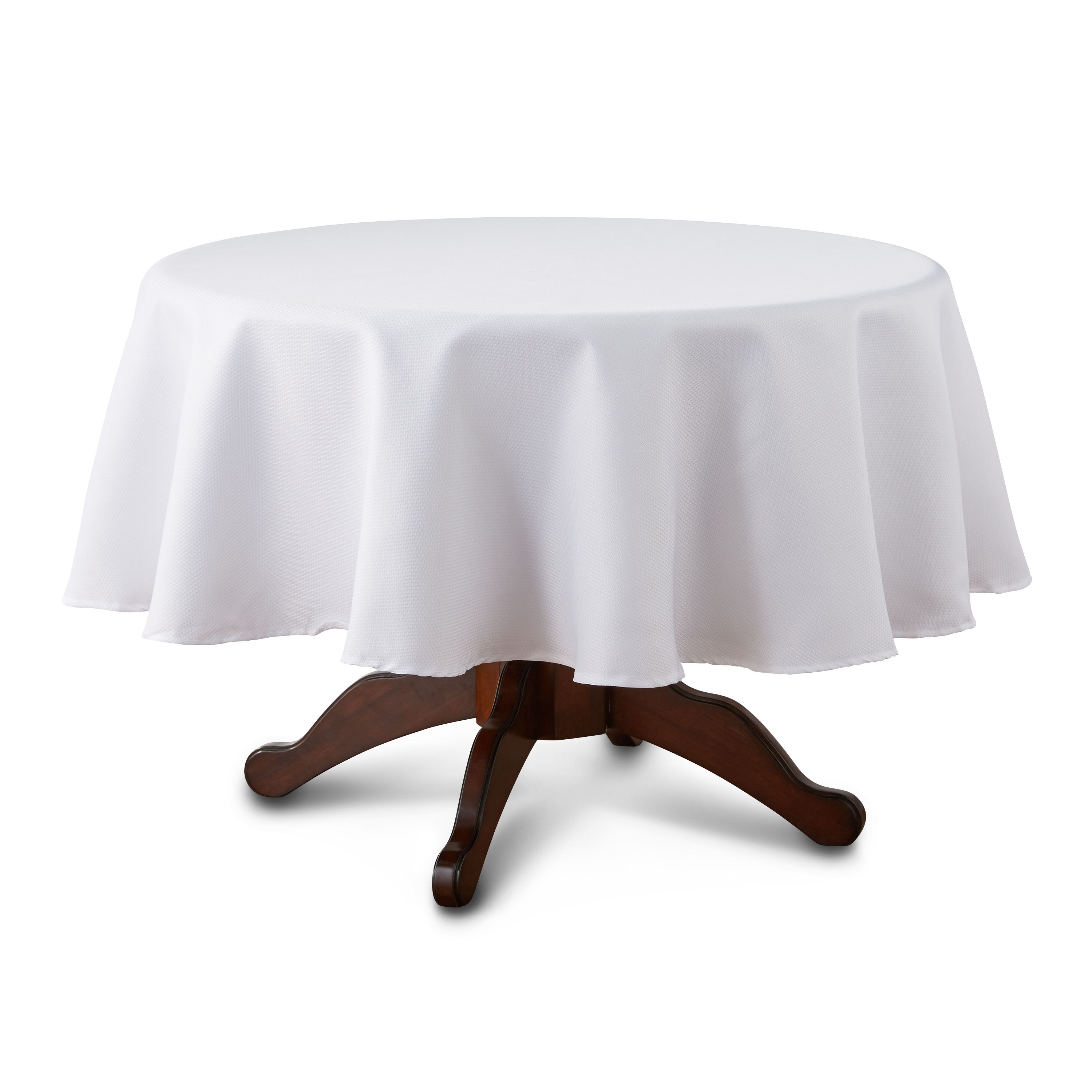 Mainstays Fraser Fabric Tablecloth 70 Round Arctic White Available In Multiple Colors And Sizes Walmart Com Tablecloth Fabric Table Cloth Mainstays