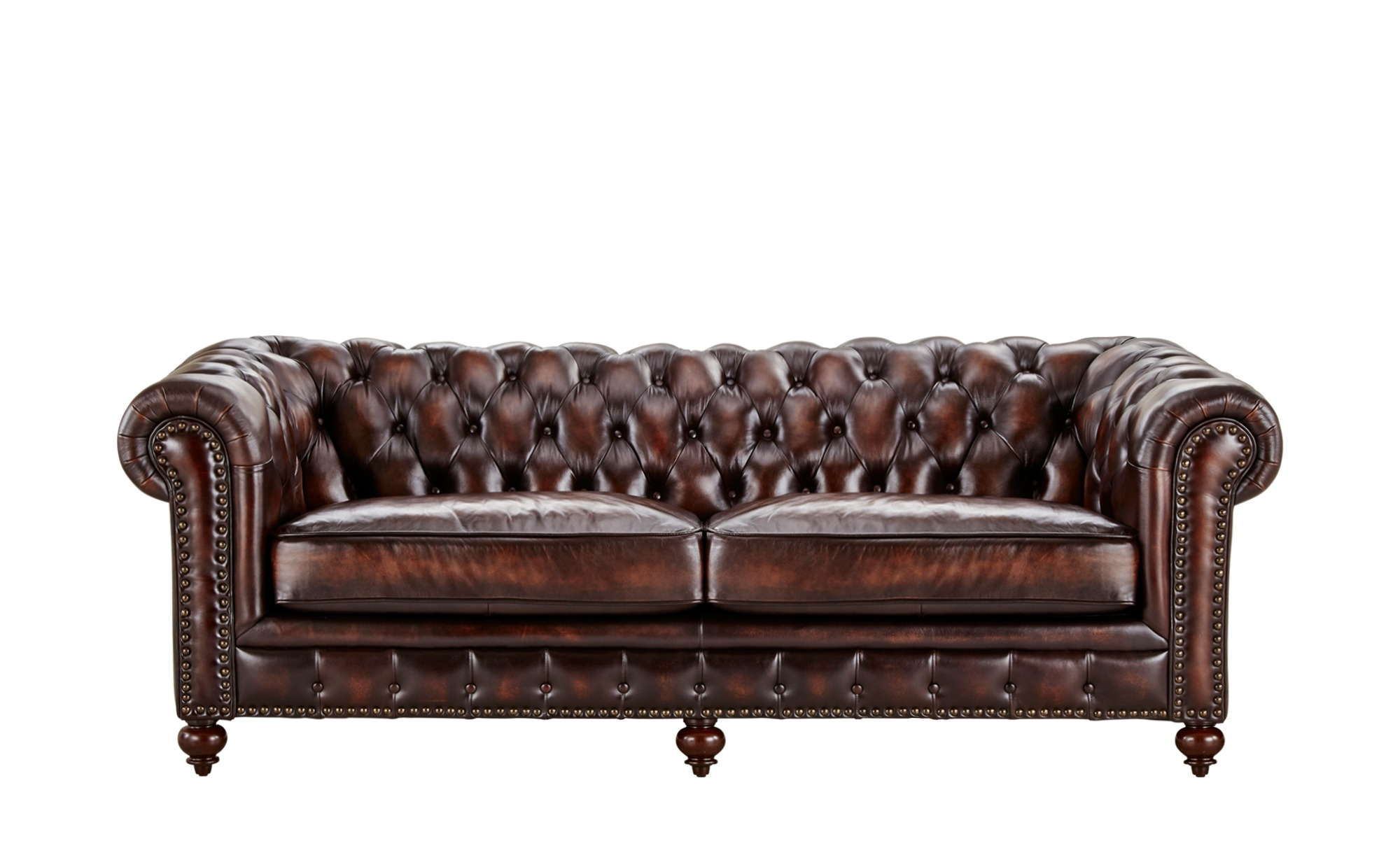 Uno Sofa 3 Sitzig Leder Chesterfield Braun 230 Cm 80 Cm 100 Cm Polstermobel Sofas 3 Sitzer Mobel Kraft Wohnwelten Shop De Sofa Leder Braun Echt Leder Sofa Sofa Leder