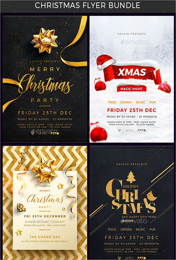 50+ Massive Christmas Designs | Christmas flyer, Template and Graphics