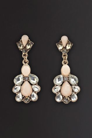 Pink Jewelled Drop Earring from Next