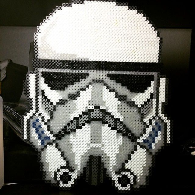 Stormtrooper - Star Wars perler art by nerdynotionz
