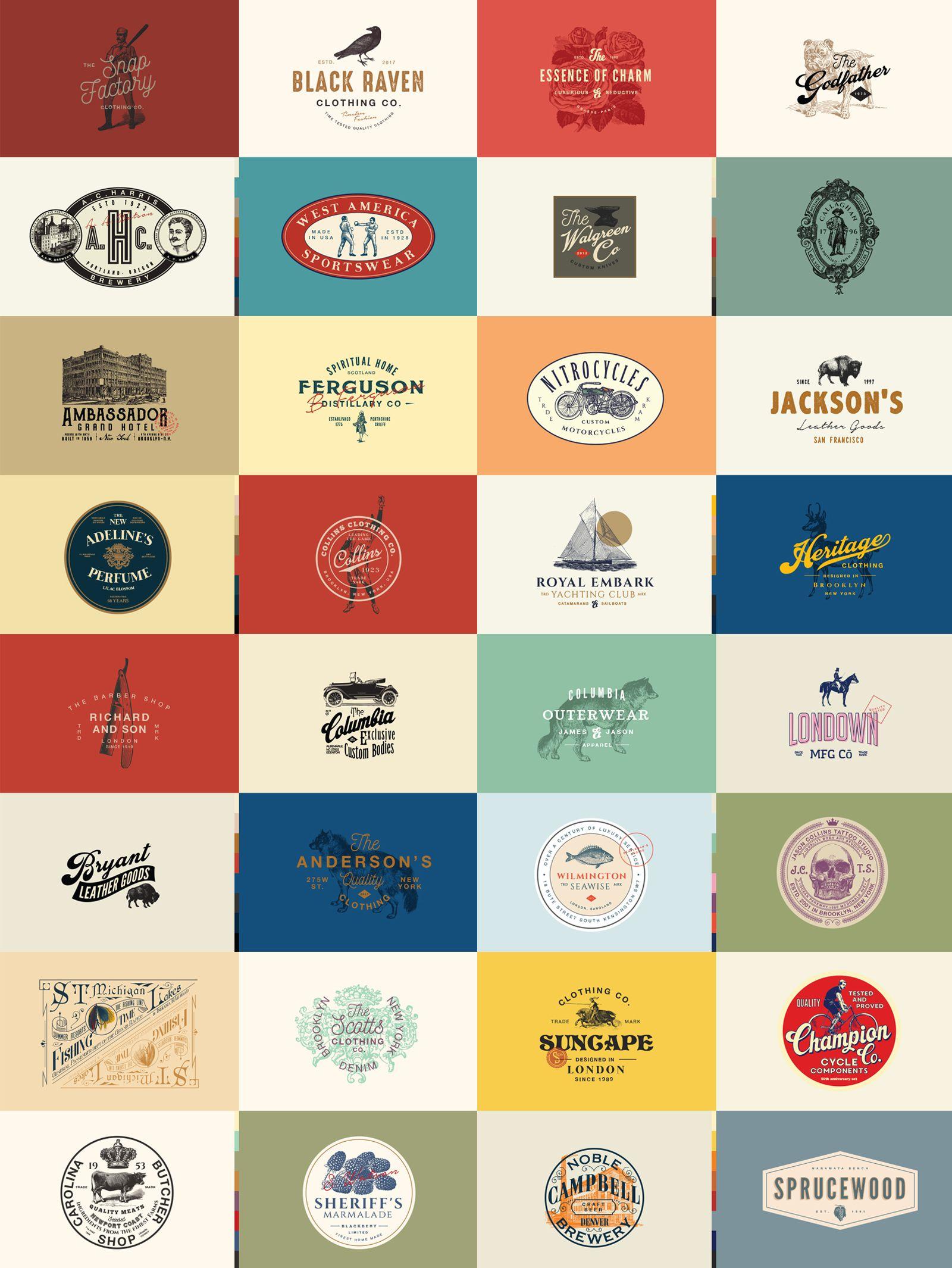 32 Vintage Logo Templates Vol 3 Vintage Logo Logo Templates Templates