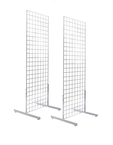 Amazon.com: Only Hangers 2' x 6' Gridwall Panel Tower with T-Base Floorstanding Display Kit, 2-Pack White …: Industrial & Scientific