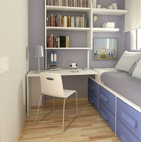 15 ideas para decorar habitaciones juveniles peque as for Recamaras pequenas para ninos