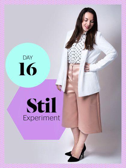 Lifestyle-Ressortleitung Bianka versucht sich die nächsten sieben Tage in Sachen Business-Outfits. Ihr heutiger Look: weißer Blazer von Only, Bluse von Opus, Culotte von Topshop, Schuhe von Zara.