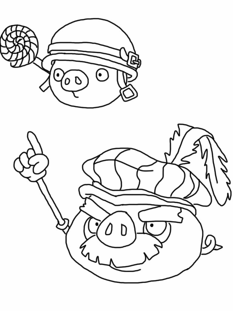 Angry birds epic coloring page - pigs | My Free Coloring Pages ...