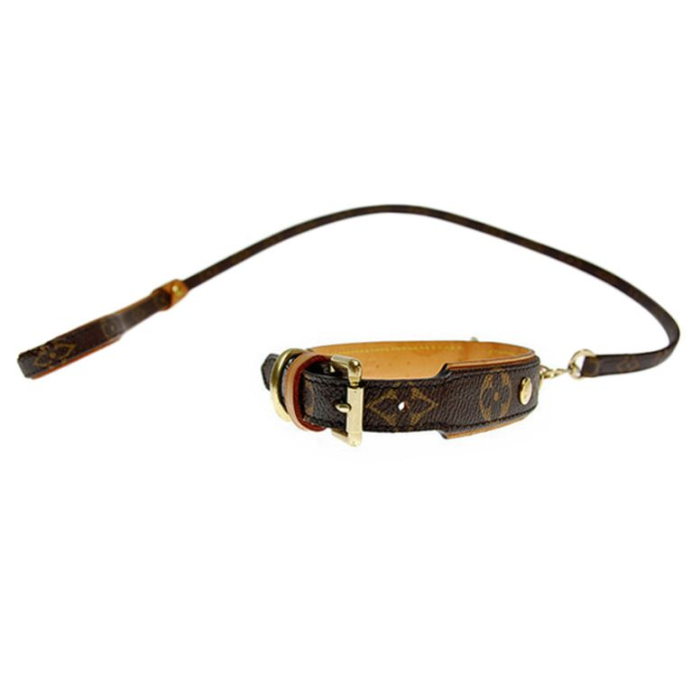 1stdibs Brand New Louis Vuitton Dog Collar And Leash Louis