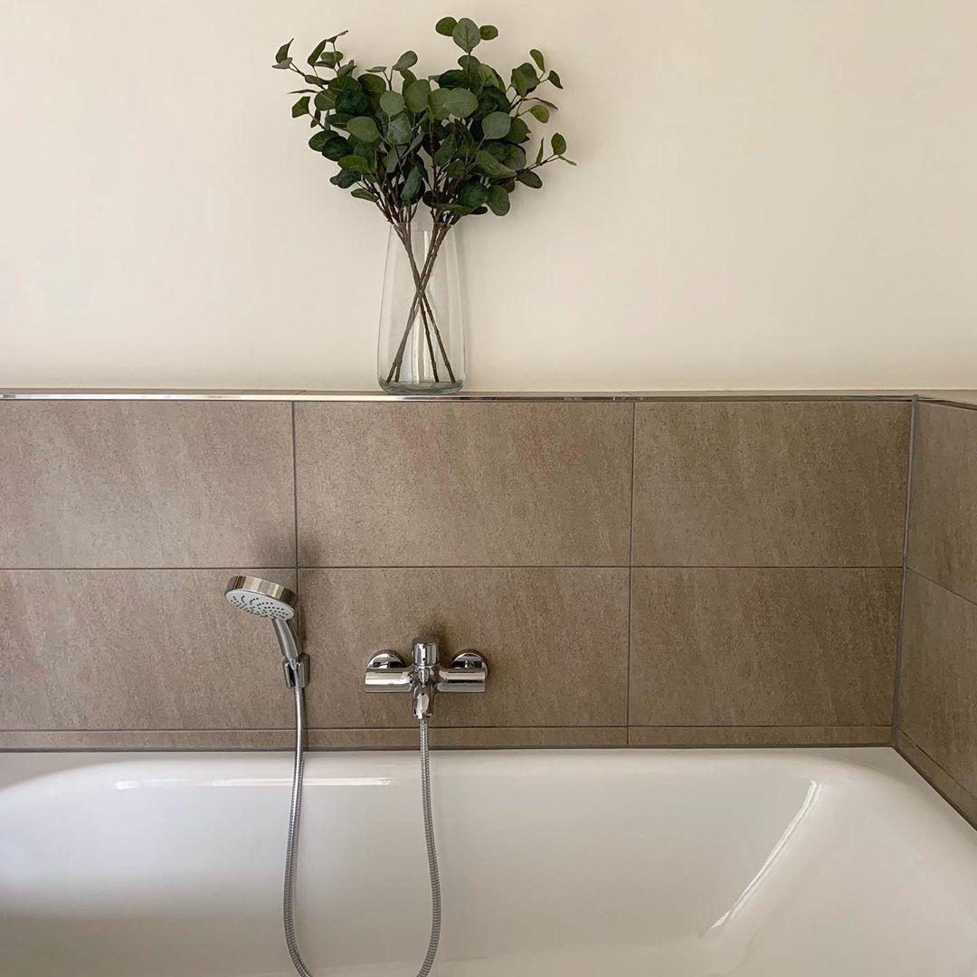 Einfach Stil Mediterran Bad Badezimmer Zuhause Leben Wohnen