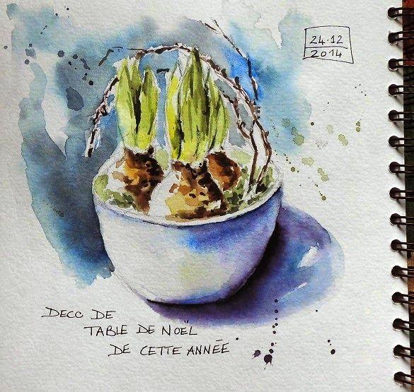 BB-Aquarelle: Croquis de Noël / Christmas sketch | Watercolor ...