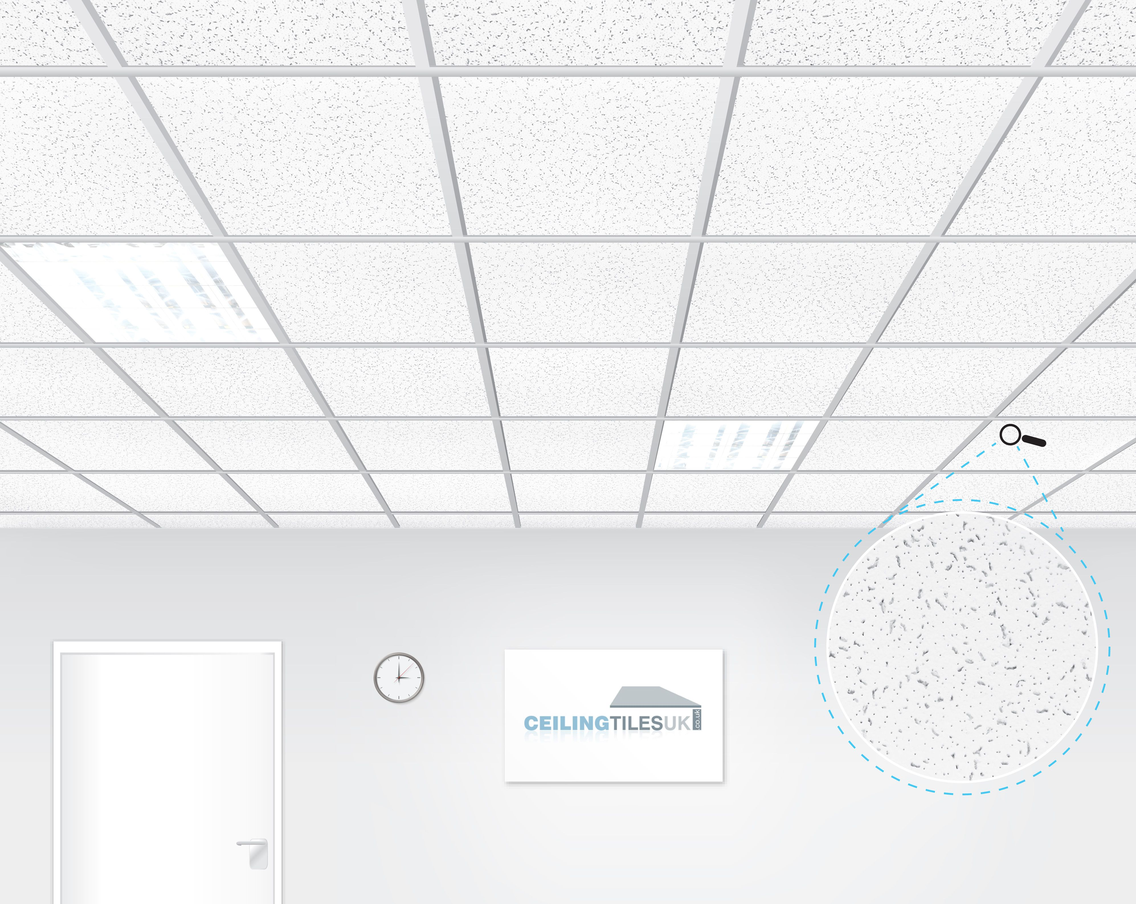 Armstrong Cortega 600x600mm Tegular Suspended Ceiling Ceiling