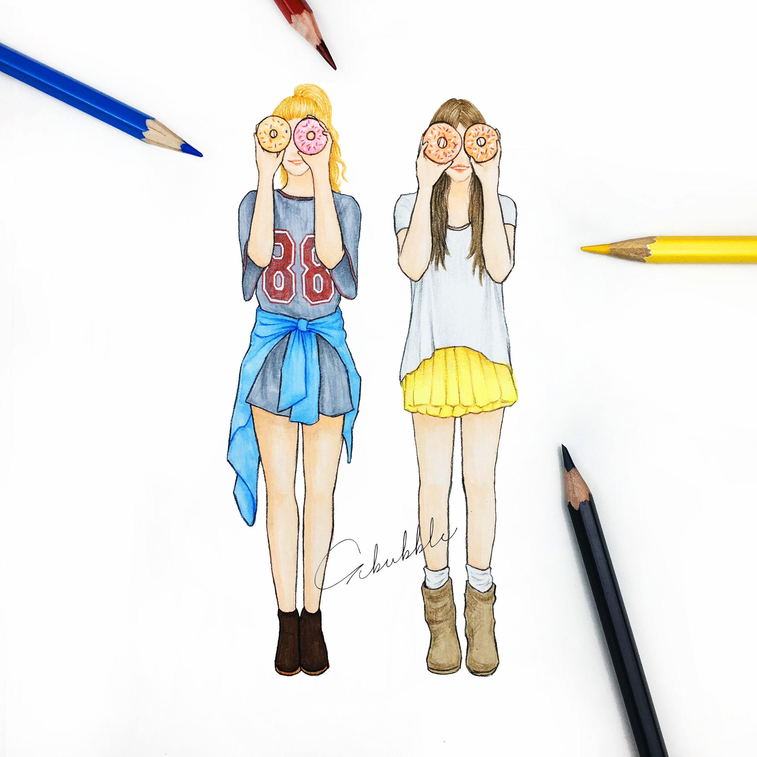 beste freunde bilder zeichnen
