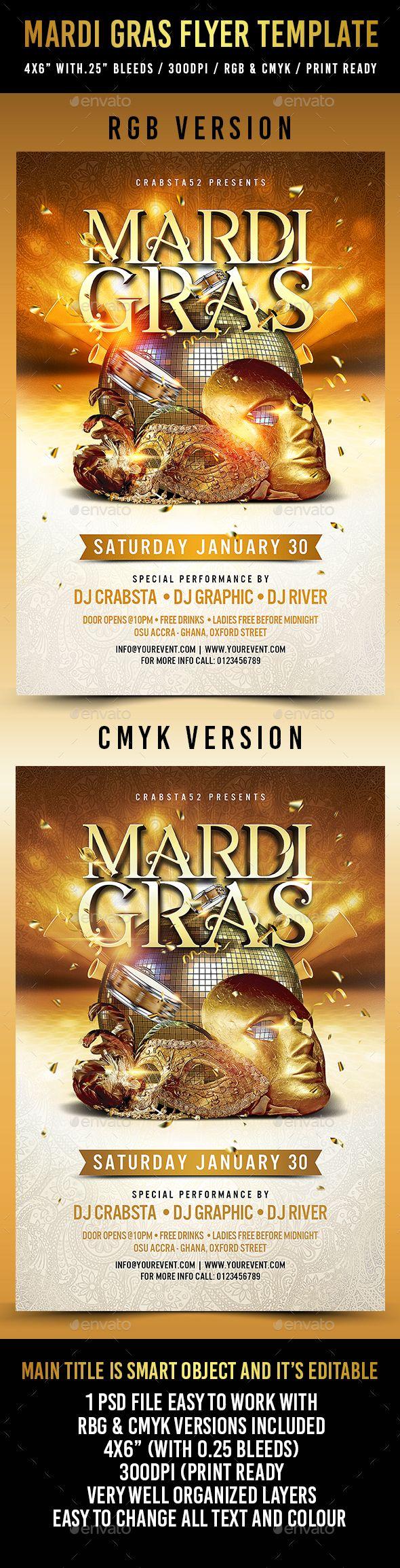 Mardi Gras Flyer Template Fontslogosicons Flyer