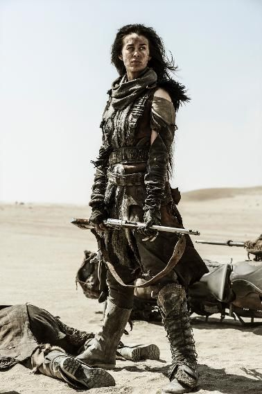 Gorgeous Megan Gale as The Valkyrie in 'Mad Max: Fury Road.'