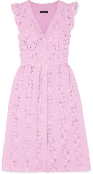 Clearance Largest Supplier Really Cheap Online Broderie Anglaise Cotton-poplin Dress - Baby pink J.crew Fast Delivery Cheap Price IJYYRHrny