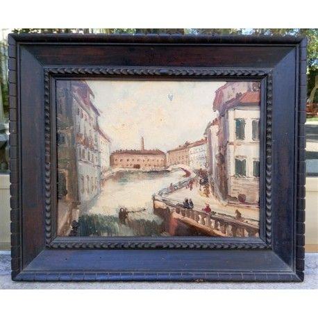Dipinto olio su cartone anonimo raffigurante venezia e for Master arredamento interni