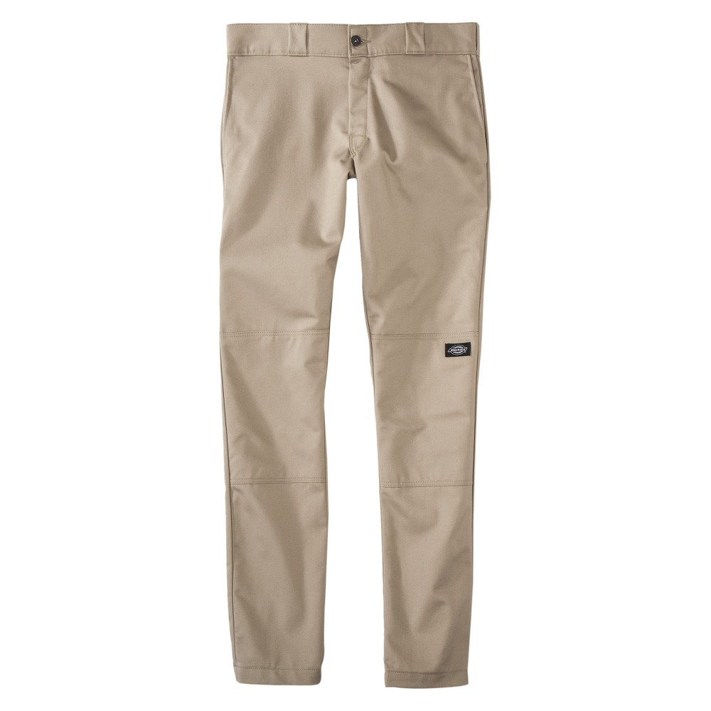 31294c84 Dickies Men's Skinny Straight Fit Flex Twill Double Knee Pant- Desert Sand  33x30, British Tan