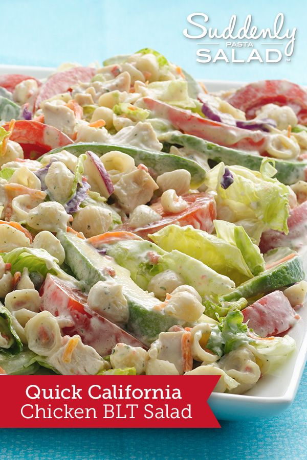 Savor quick BLTs pasta-salad style, with California avocados tossed in, too.