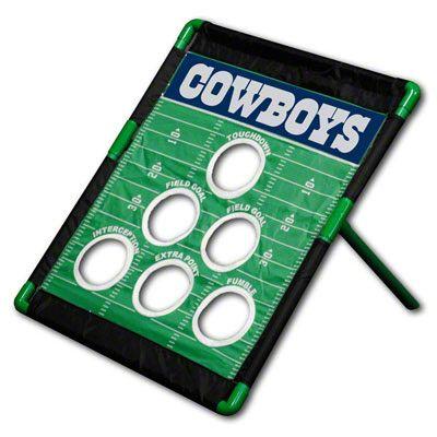 Dallas Cowboys Nfl Football Field Bean Bag Toss Game Red