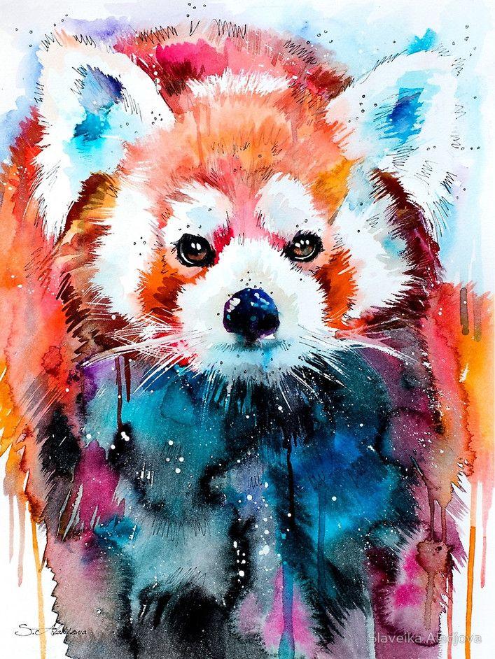 Colorful Animal Portraits By Slaveika Aladjova Panda Art Art