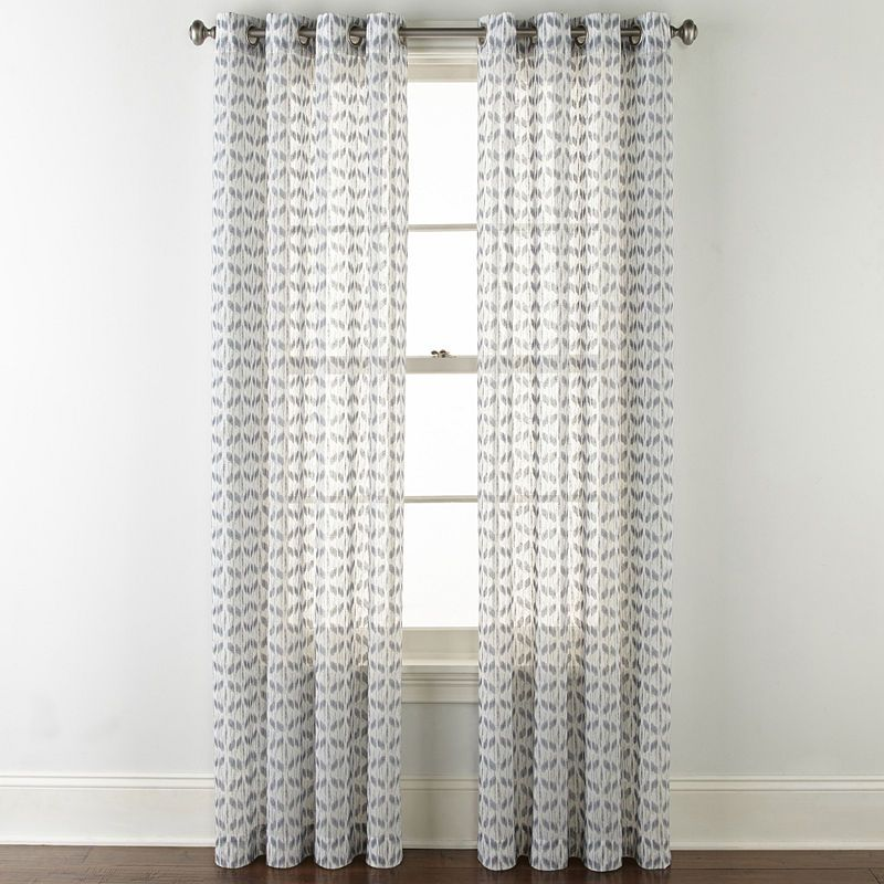 Jcpenney Home Rockford Sheer Grommet Top Curtain Panel Panel