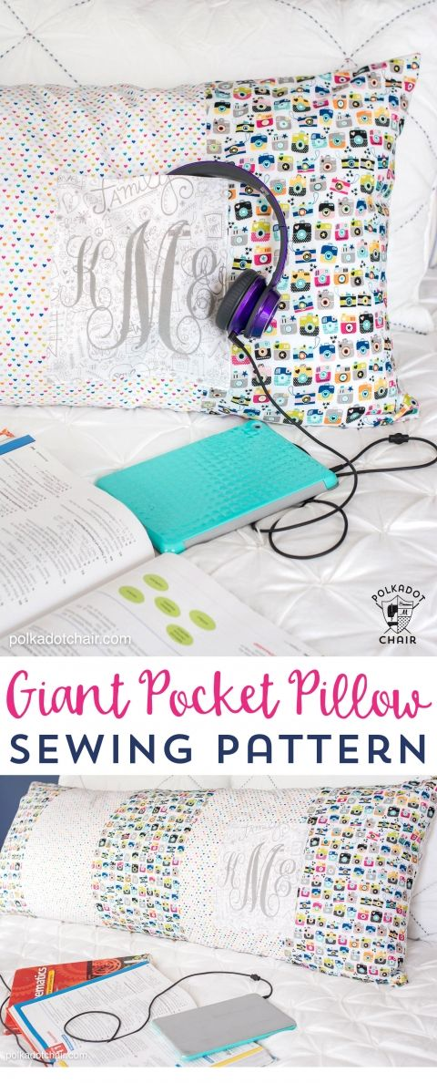 Giant Body Pillow Sewing pattern with pocket | sewing | Pinterest ...