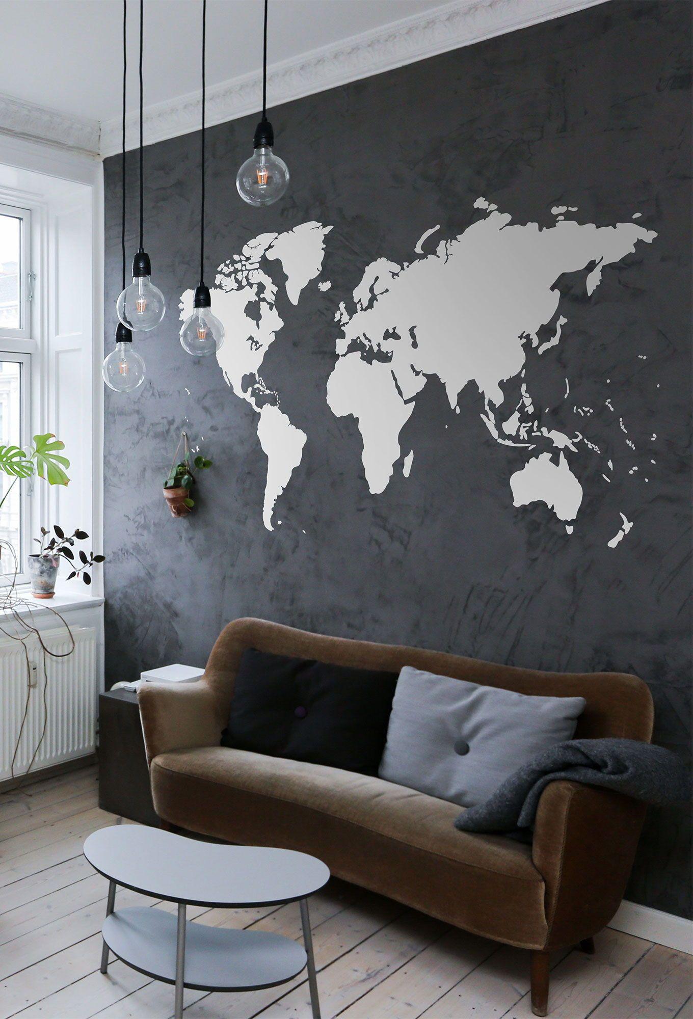World Map Silhouette Vinyl Wall Decal Sticker Conquestmaps Map Wallart Decal Walldecals Decorideas Wall Vinyl Decor World Map Decor World Map Wall Decal