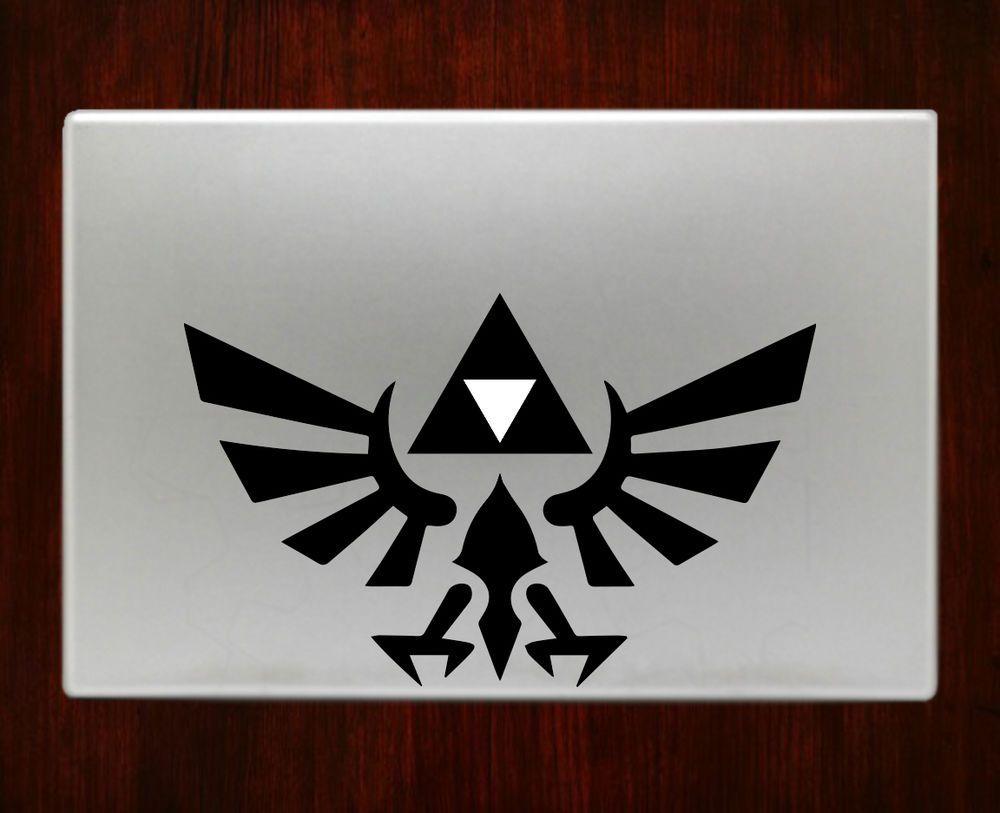 Gold Triforce Logo The Legend of Zelda Apple Macbook Air Pro Retina Laptop decal