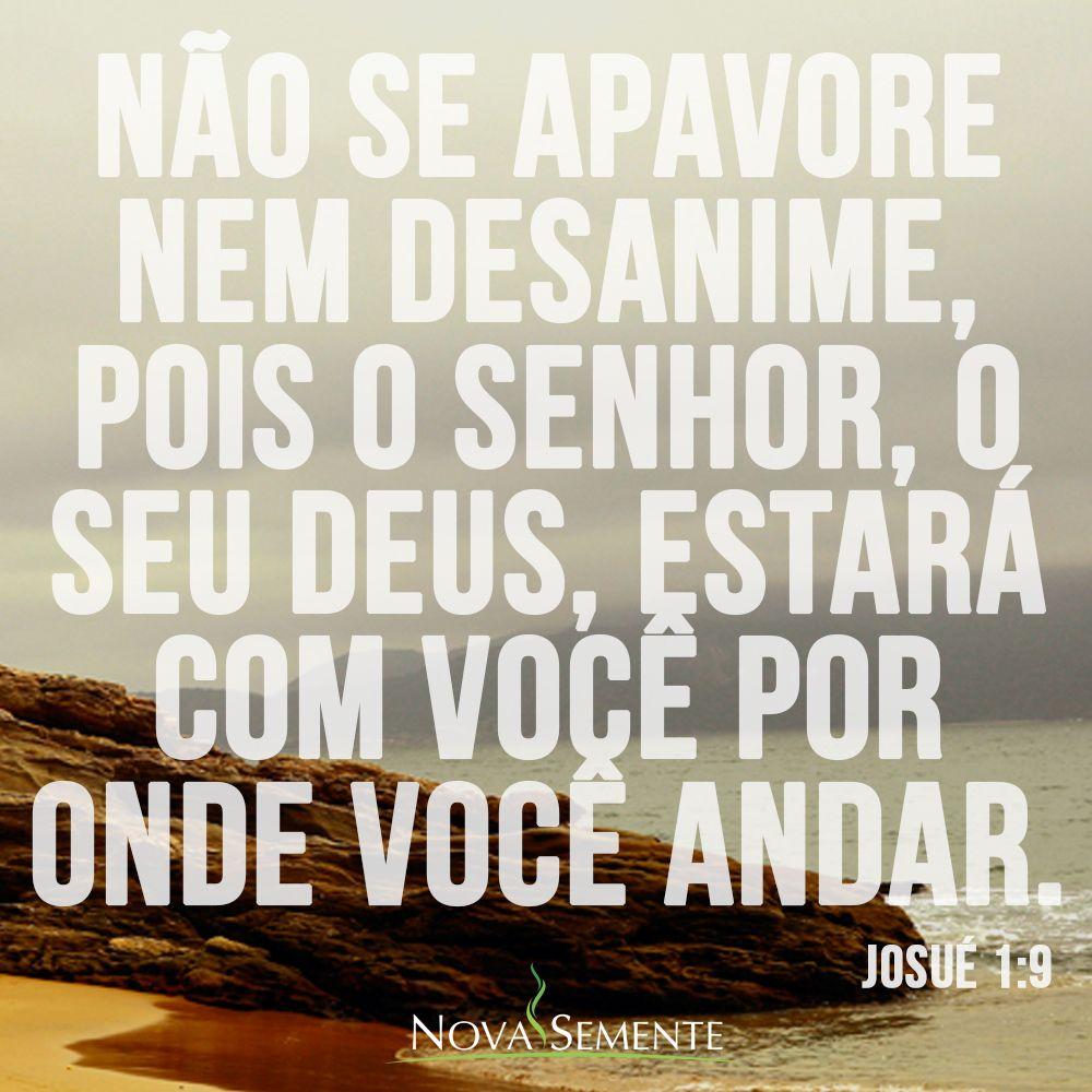 Nova Semente Frases Da Bíblia Versículos Deus Josué 1