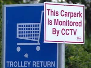 This carpark is monitored by CCTV