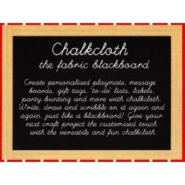 Chalkboard Chalk Cloth Blackboard Black Fabric From Sarah J Home Decor