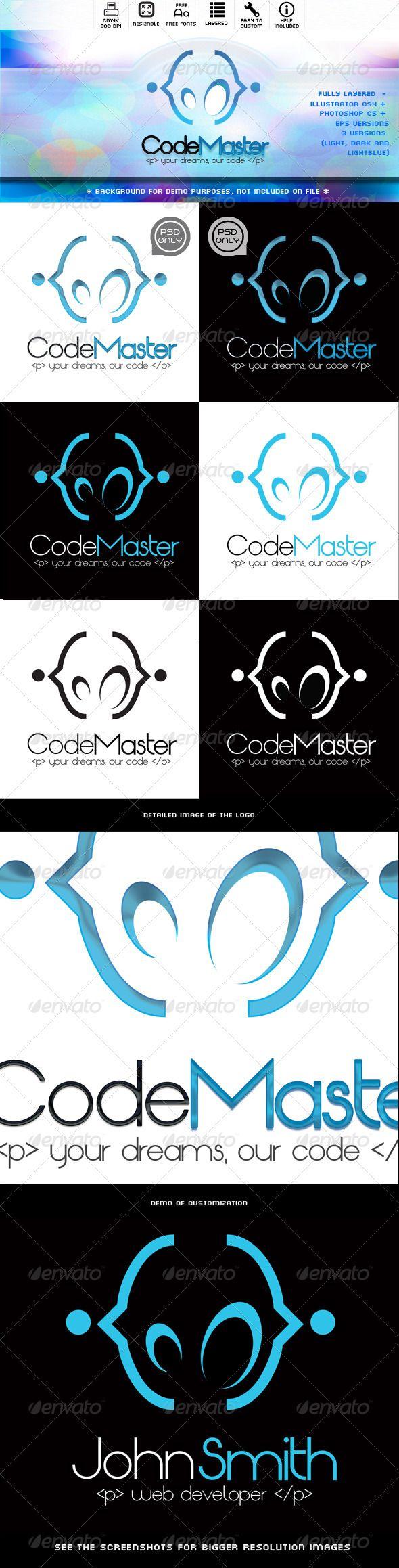 CodeMaster Logo Abstract logo, Vector logo design, Logo