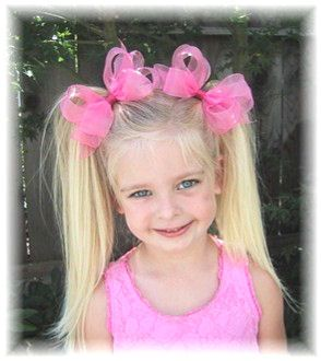 Double Chiffon Girls Hair Bow (Price Per Bow)