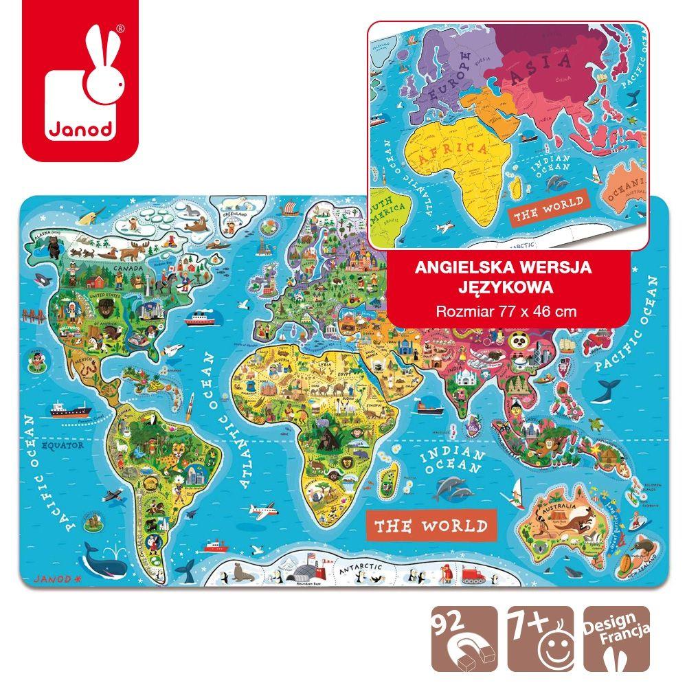 Magnetyczna Mapa świata Jonad.