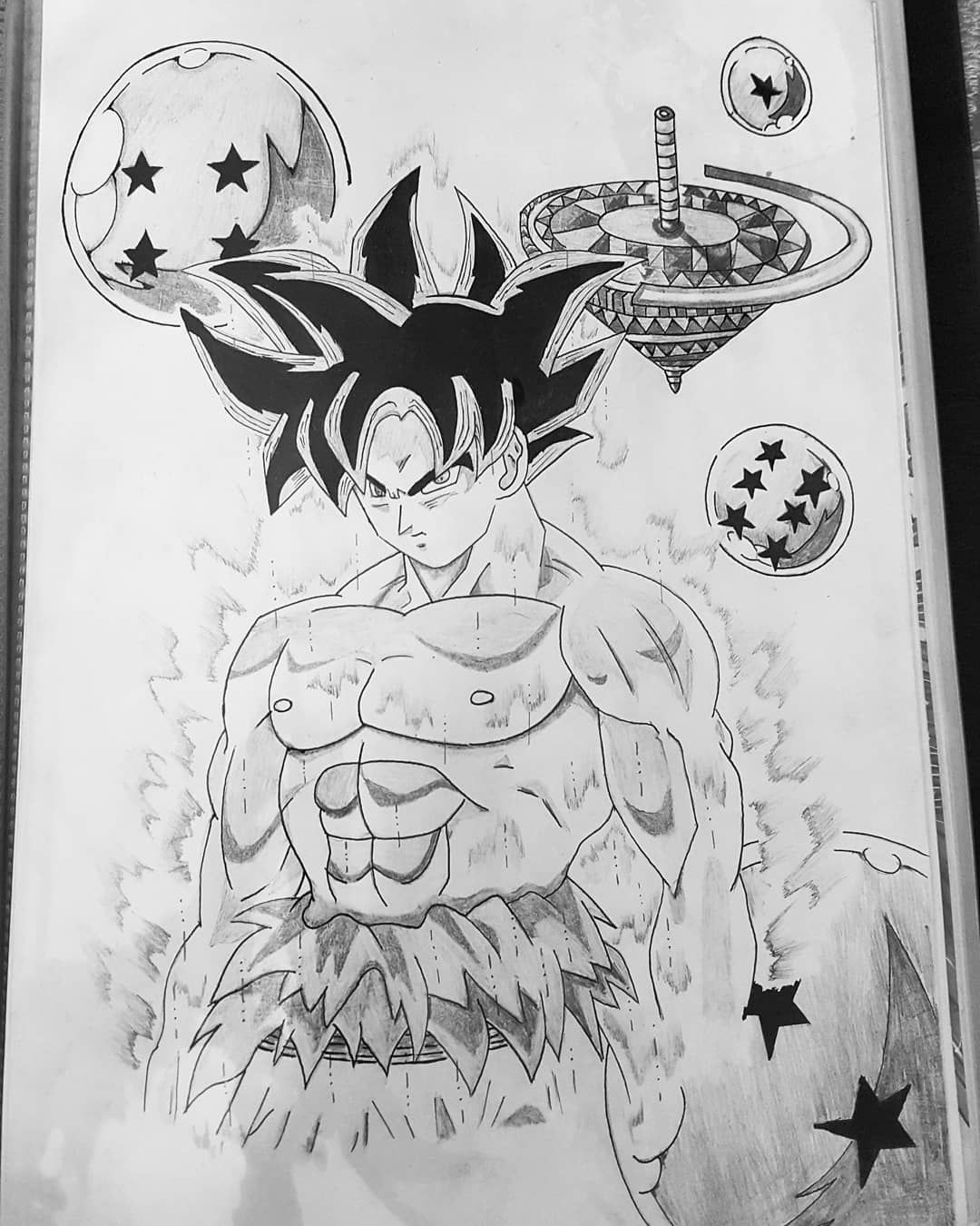Goku dbs dragonball draw pictureoftheday pencil