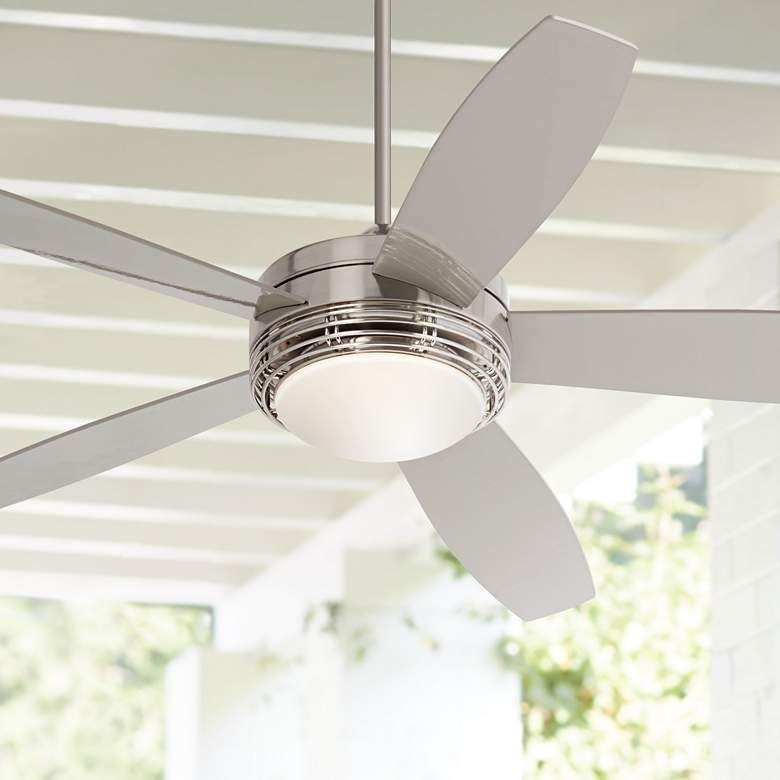 60 Casa Province Brushed Nickel Outdoor Led Ceiling Fan 61c70