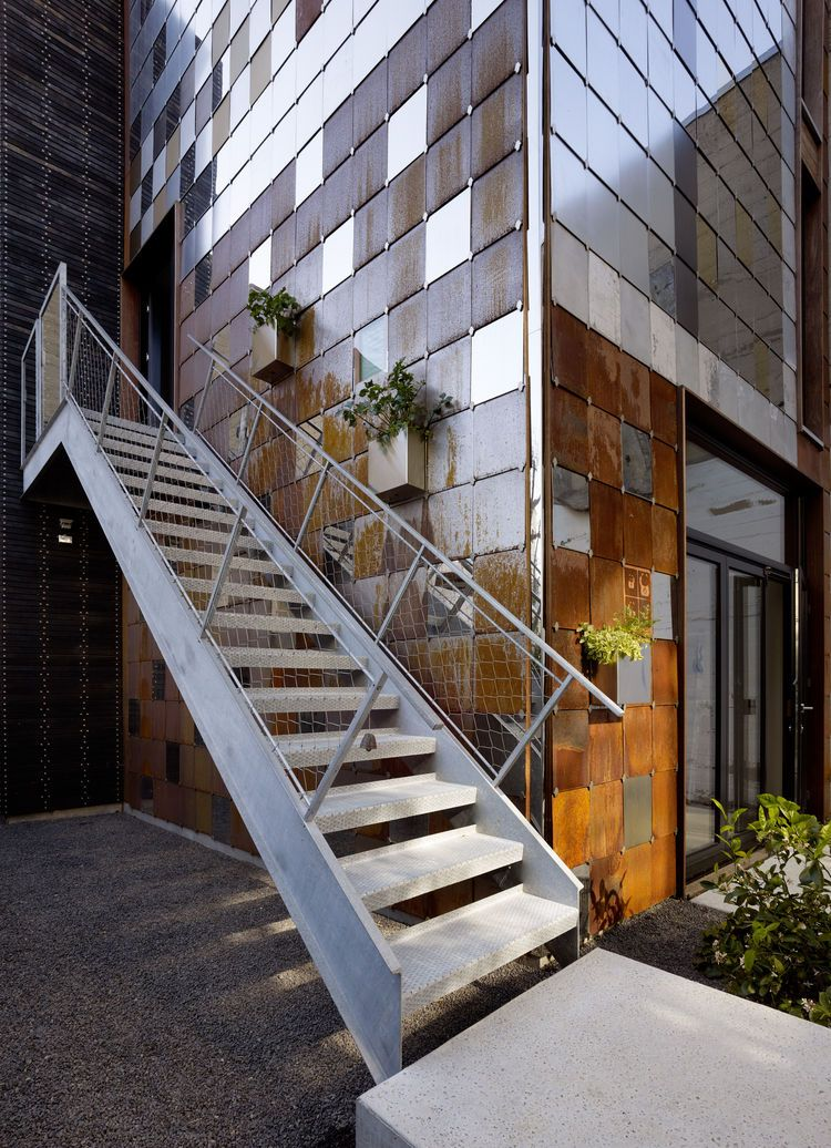Innovative Facade With Removable Planters Exterior Stairs Stairs Architecture Facade   Designs Of Stairs Outside House
