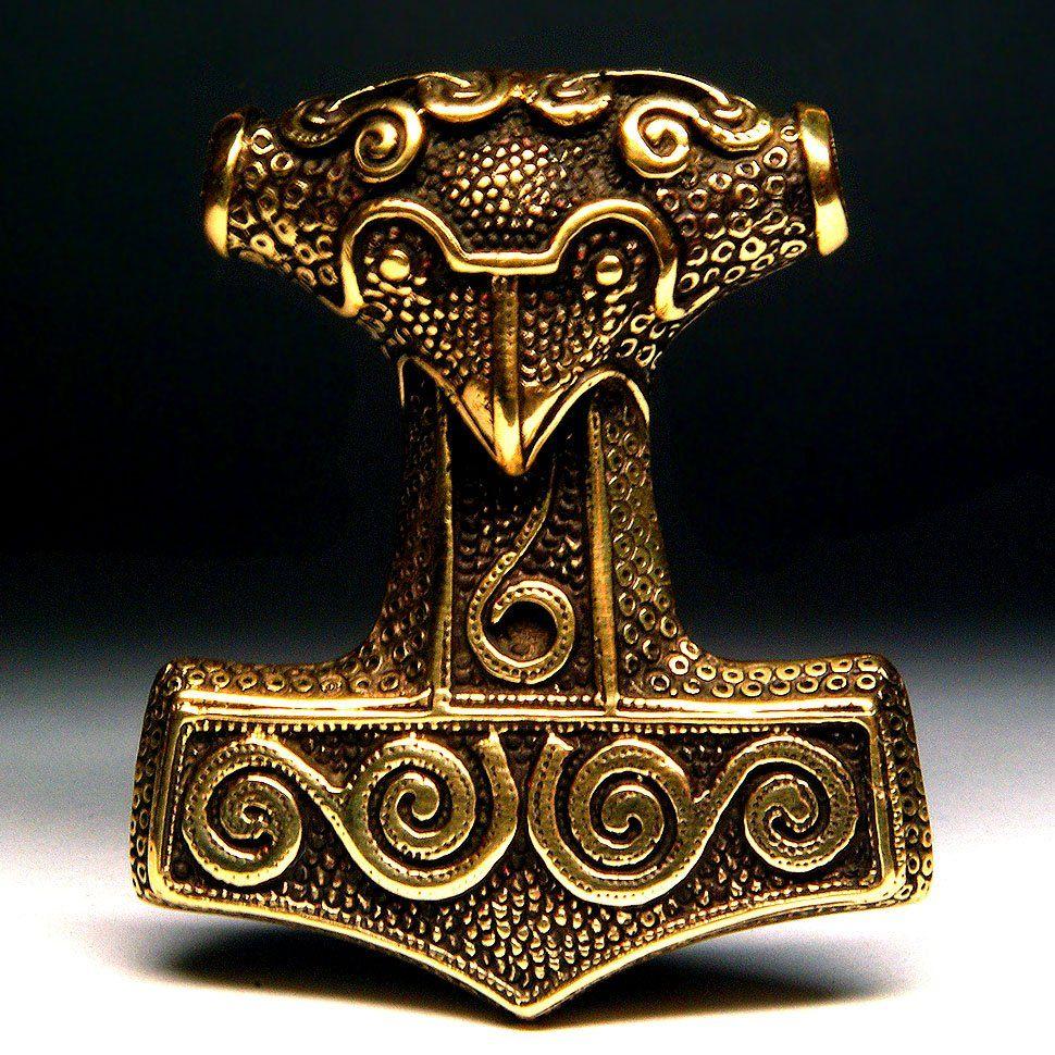 brass Small Thor/'s Hammer Pendant handmade Mjolnir