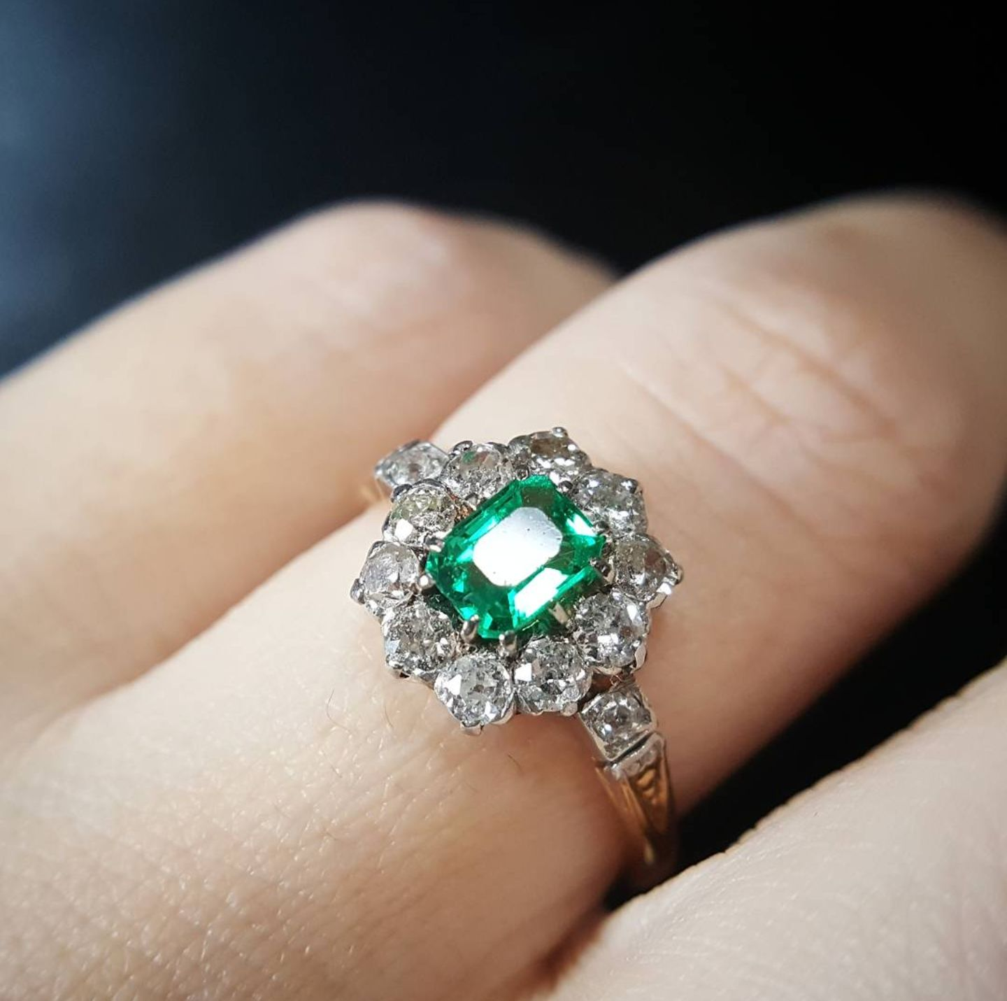 Vintage Emerald Engagement Ring from The Idol's Eye
