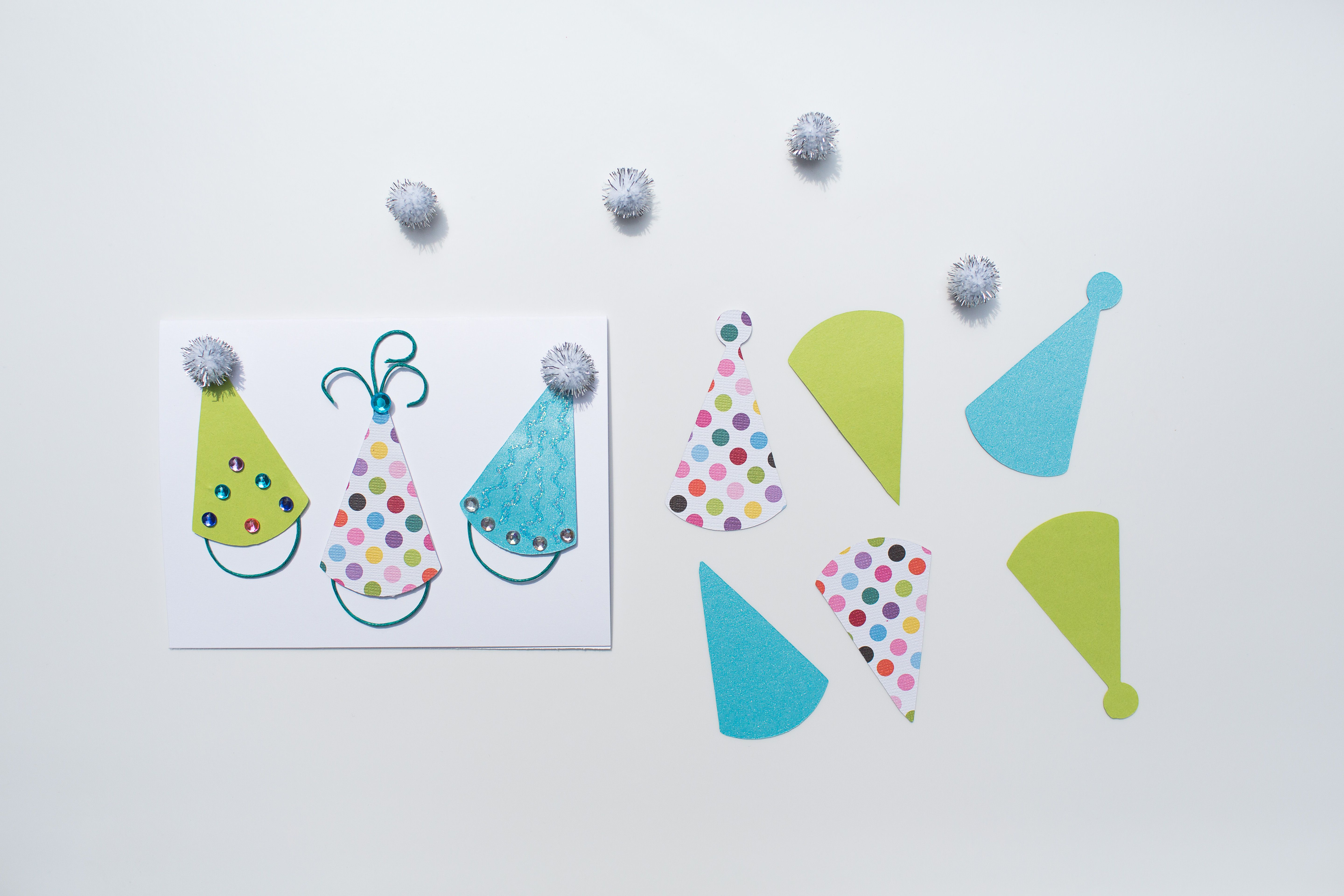 Part Of Our Teal Firefly Birthday Card Making Kit Handcrafted Diy