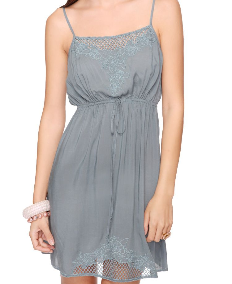 $15.99 (B1-G1sale too)Embroidered Drawstring Dress | FOREVER21 - 2062096682
