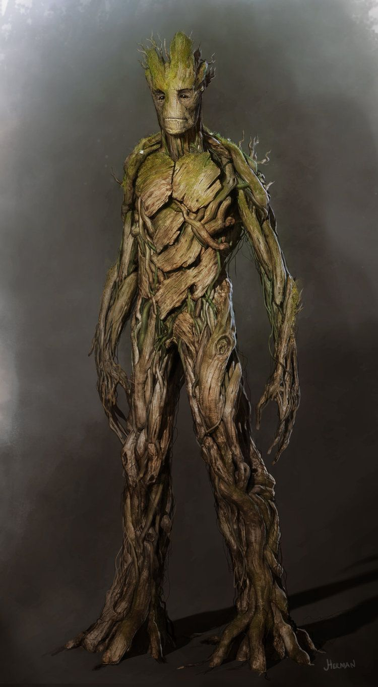 Groot Concept Art from GUARDIANS OF THE GALAXY | Character ...