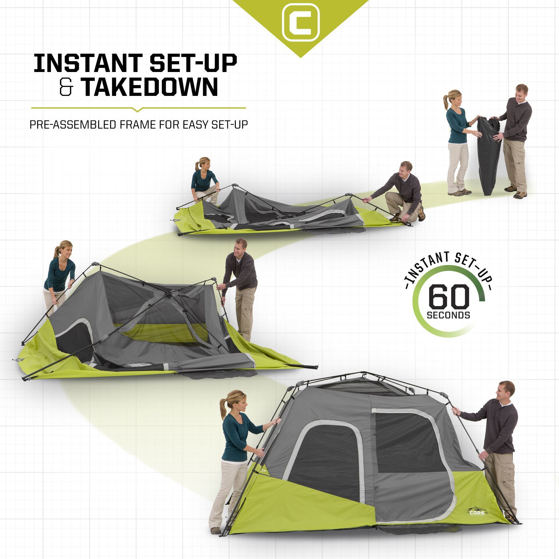 6 Person Instant Cabin Tent 11u0027 ...  sc 1 st  Pinterest & 6 Person Instant Cabin Tent 11u0027 x 9u0027 | Cabin tent Tents and Camping