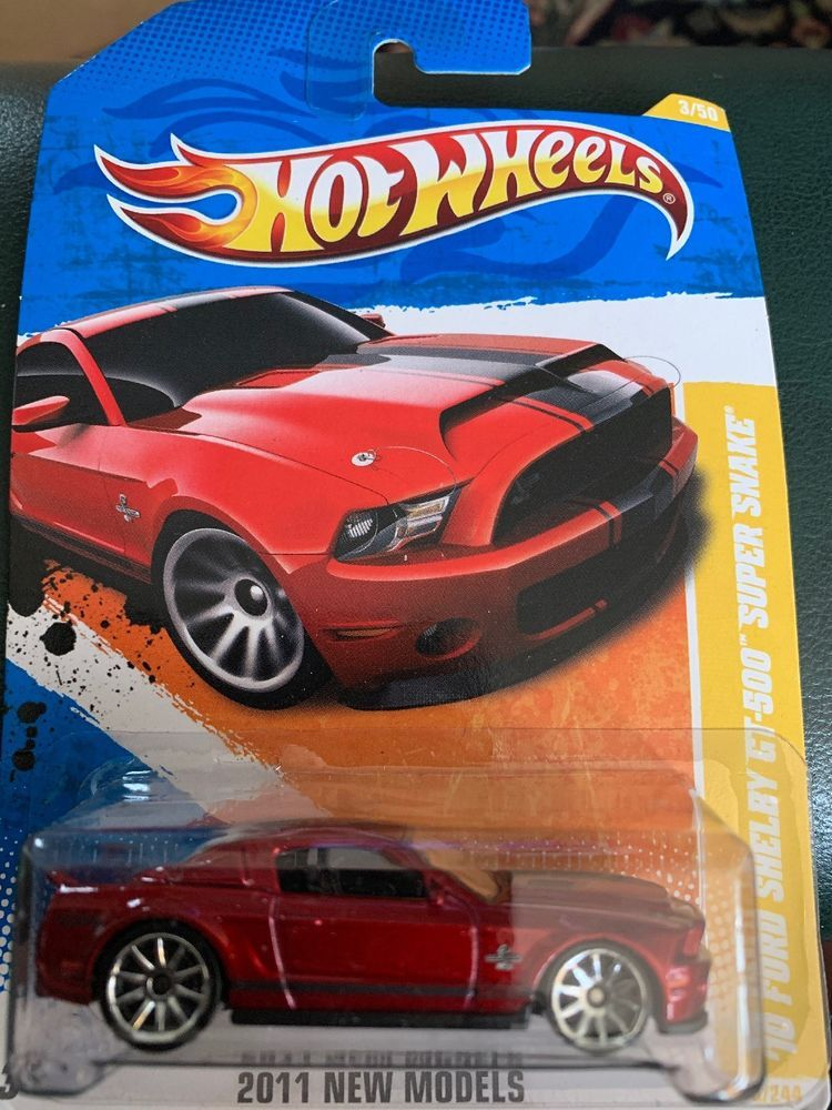 Hot Wheels 2010 Ford Shelby Gt 500 Red Super Snake 2011 New Models Mustang Ebay Ford Shelby Gt 500 Shelby Gt Hot Wheels