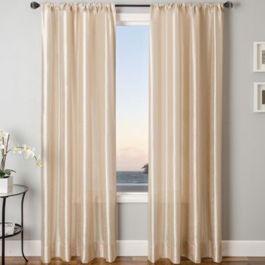 Sedro Solid Faux-Silk Rod-Pocket Curtain Panel - JCPenney