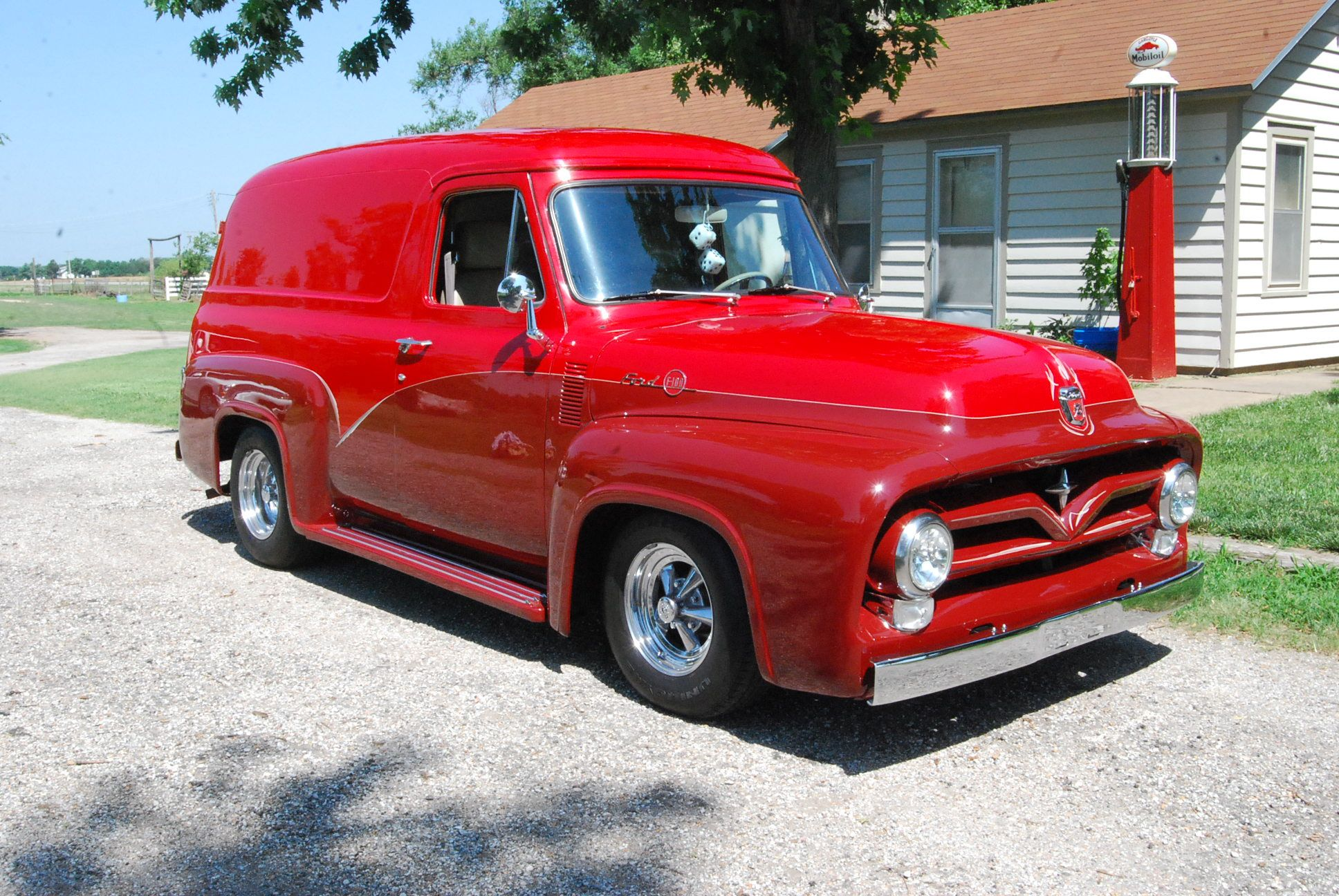 Motor\'n | 1955 Ford F-100 Panel Street Rod for sale at www.motorn ...