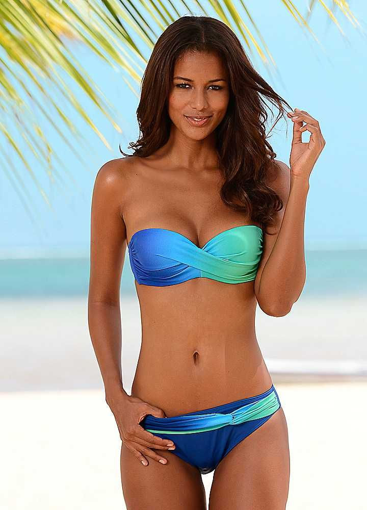 c73b9823ed Blue Ombre Underwired Bandeau Bikini by LASCANA   Swimwear ...